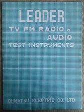^  Ohmatsu TV FM Radio & Audio Test Instruments Original Brochure 1960's Circa