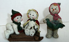 2 1976 Limited Edition Sarah'S Attic Snowman Men Sled 1 Signed By Sarah 44 Years