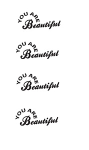 YOU ARE BEAUTIFUL decal sticker window car mirror self love x4 170