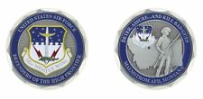 "MALMSTROM AIR FORCE BASE DEFENDERS OF THE HIGH FRONTIER 1.75""  CHALLENGE COIN"