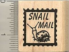 Snail Mail Faux Postage Rubber Stamp D4914 WM