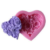 3D Heart Flowers Silicone Mold Fondant Mold Cake Chocolate Decorating Tools Tw