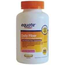 Equate Daily Fiber 100% Psyllium Husk Multi-Benefit Supplement 300 Capsules