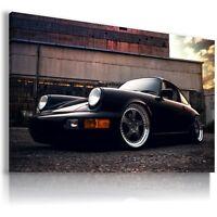 PORSCHE 911 BLACK Super Sport Cars Wall Canvas Picture ART  AU303 MATAGA