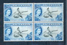 ASCENSION 1956 DEFINITIVES SG62 3d BLOCK OF 4 MNH