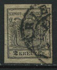 Austria 1850 2 kreuzers black CDS used