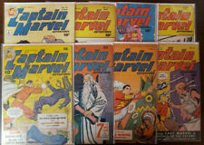 CAPTAIN MARVEL ADVENTURES LOT OF 8 ISSUES 43 47 53 54 70 71 74 77 - FAIR TO VG