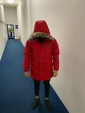 The North Face Red Men's New Peak Down Parka Jester Jacket Coat / Size S, M