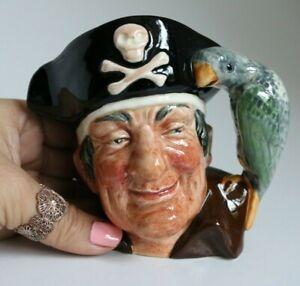 "Vintage Royal Doulton 'Long John Silver' Pirate with Parrot 4"" Toby Jug 1951"