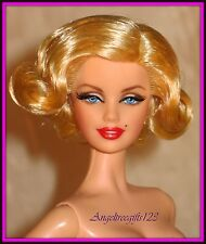 Nude model muse Barbie as Marilyn Monroe blonde hair for ooak or play