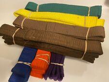 "Martial Arts Taekwondo Karate Hapkido 1-1/2"" Solid Color Belt"