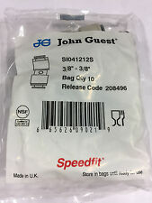 John Guest SI 041212S straight connector 3/8 superseal 3/8 speedfit (bags of 10)