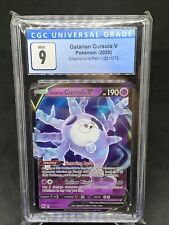 Pokemon CGC 9 Champion's Path ULTRA RARE Galarian Cursola V 021/073 - CGC MINT 9