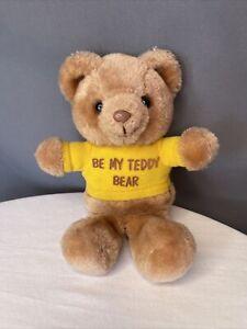 Vintage RUSS Be My Teddy Bear Yellow T-Shirt plush brown bear Valentine's