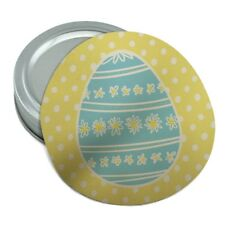 Cute Blue Easter Egg with Daisies Round Rubber Non-Slip Jar Gripper Lid Opener