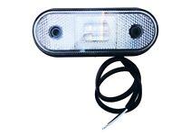 LED Begrenzungsleuchte 12V 24V Umrissleuchte Weiß LKW Anhänger 120x46x18 mm E9