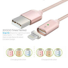 Braided Lightning Magnetic USB Charging Charger Cable For  Apple iPhone Samsung