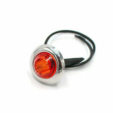 "12V 3/4"" Mini LED Small Round Side Marker Light Truck Trailer RV Car Bullet Lamp"