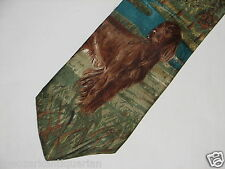 Irish Setter TIE dog Boston Traders neck tie 100% silk USA Made FREE 1st Class S