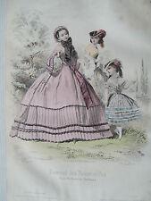 1i1b Gravure de mode 1860 journal des demoiselles