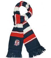 Sydney Roosters NRL Rib Knit Oxford Scarf with Tassles! BNWT's!