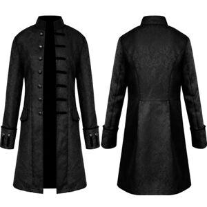 Mens Retro Coat Victorian Steampunk Coat Gothic Jacket Frock Coat Party Clothes
