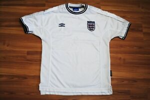 ENGLAND NATIONAL 1999/2000/2001 VINTAGE HOME FOOTBALL SOCCER SHIRT JERSEY UMBRO