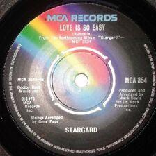 "Stargard - Love Is So Easy / Three Girls 1970s Pop 7"" Vinyl Record 45RPM"