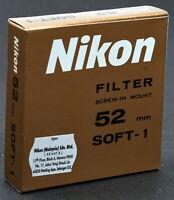 Nikon 52mm Soft-Focus #1 Filter - New