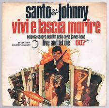 """SANTO & JOHNNY  VIVI E LASCIA MORIRE / LONELY GUITAR 7"""" 45 GIRI"""