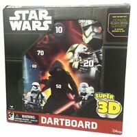 Star Wars The Force Awakens Episode VII Disney Super 3-D Magnetic Dartboard
