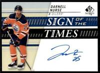 2019-20 UD SP Authentic Sign of the Times Auto #SOTT-DN Darnell Nurse