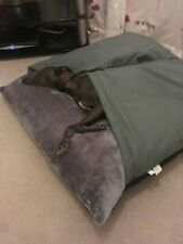 Top Quality Snuggle Sack Cosy Dog bed In grey 100cm washable cover 30c UK Stock