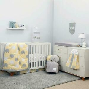 NoJo Dreamer - Yellow /Grey Elephant 8 Pcs Baby Crib Bedding  see Details
