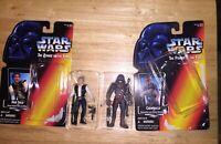 Star Wars ~ Han Solo & Chewbacca Lot ~ Action Figures x2 ~ 1995 ~ Kenner