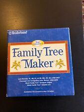 BRODERBUND Family Tree Maker Version 7 For Windows Volume 1-5