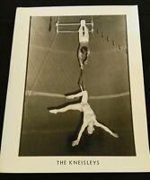 "Vintage Black White Circus Photograph Picture ""The Kneisleys"" acrobats 8x10"