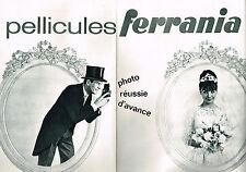 PUBLICITE ADVERTISING 044  1963  FERRANIA   pellicules photo  ( 2 pages)