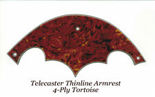 Telecaster Tele Thinline Armrest 4-Ply Tortoise made for Fender Vintage Project