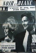BRIGITTE BARDOT en COUVERTURE de NOIR et BLANC No 809 DE 1960 L AMOUR AVANT TOUT