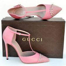 GUCCI New sz 39 - 9 Authentic Designer Studded Womens High Heels Shoes pink