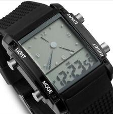 Reloj Pulsera tiempo de visualización de la fecha de marcado Cuadrado Dual Alarma Deportivo LED Colorido Nuevo