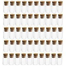 Tiny 1ml Glass Bottles with Cork Wood Stopper Vials Mini Jar Bottle Pendant UK