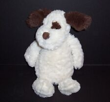 Chelsea Teddy Bear Co Cream Plush Puppy Dog Brown Ears Nose Eye Stuffed Animal