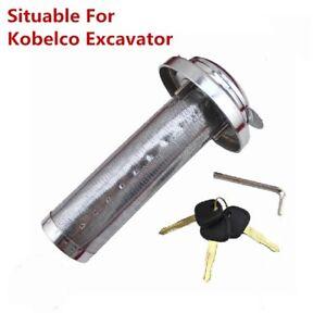 Anti-theft Fuel Tank Cap Lock With Strainer For Kobelco Excavator