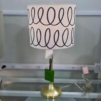 Kate Spade New York Gold Base Charlotte Street Blue Swirl Shade Table Lamp