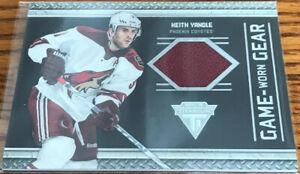 2011-12 Panini Titanium Game Worn Gear Keith Yandle #59 Phoenix Coyotes