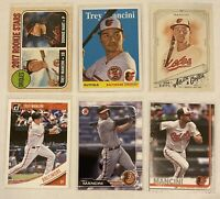 ⚾️Trey Mancini 6-CARD LOT including ROOKIE 2017 Topps Heritage #396, Orioles