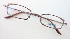 Brillen Gestell kleine Gläser Brillenfassung stabil braun Metall unisex size M