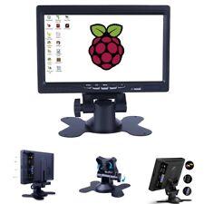"""7"""" TFT LCD AV/VGA/HDMI Monitor Built-En Haut-parleur pour ordinateur PC DVR Framboise"""